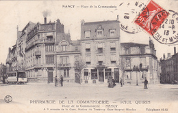 "54-NANCY-PHARMACIE De La COMMANDERIE-""Paul QUIRIN""Place De La Commanderie Nancy-Ecrite-Timbrée 14/8/1913-    (12/2/20) - Nancy"