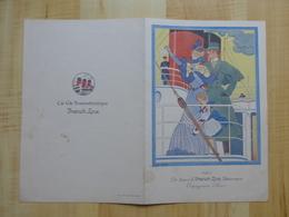 "MENU 1933 PAQUEBOT ""DE-GRASSE"" FRENCH LINE  - DESSIN GEORGE BARBIER - MENUS - Menus"