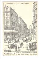 MARSEILLE - Rue Colbert - CAFÉ ALFRED - Café Bar Des Cinq Parties Du Monde - Otros