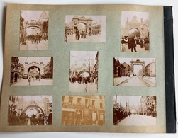 GRANDE PHOTOGRAPHIE CARTONNEE TREVIGNIN SAINT-ETIENNE FETE INAUGURATION FELIX FAURE POLITIQUE 42 LOIRE 73 SAVOIE 1897 - Saint Etienne