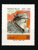 ITALY. Tribute To The Italian Film Director Federico Fellini. Adhesive Stamp Mint ** Italy 2020 - Cinéma