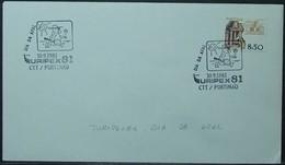 Portugal - Cover 1981 Ceramics 8$50 Solo Tourism TURIPEX Tennis On Cancel Portimão - Covers & Documents