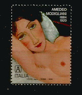 ITALY. Young Woman By Amedeo Modigliani ,PAINTER & SCULPTOR, MINT ** NEW STAMP ITALY 2020 - Beeldhouwkunst