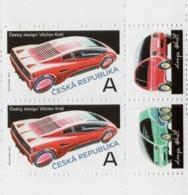 Czech Republic - 2019 - Czech Design - Václav Král - Mint Booklet Stamp Pair With Coupons (various Positions) - Neufs