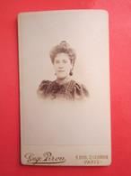 Photo Identifiée De Madeleine POTTIER épouse De Bruno ROSTAND  1872-1959 En 1895 - (photo Eugène Pirou) - Identifizierten Personen