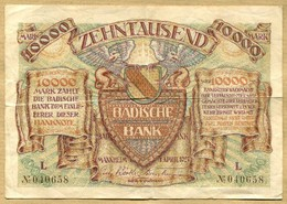 Allemagne 10000 Mark  Mannheim 01 Avril 1923 - 10000 Mark