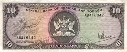 Trinidad 10 Dollars, P-32 (1977) - EF/XF - Trinidad & Tobago