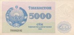 Uzbekistan 5.000 Sum, P-71b (1992) - UNC - Serial Number 4mm High - Usbekistan