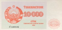 Uzbekistan 10.000 Sum, P-72c (1992) - UNC - Serial Number 3mm High - Usbekistan