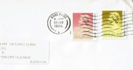 1988 - HONG KONG - Lettre Pour La France - 2 Tp Reine Elysabeth II - (Yvert N° 505 Et 506) - Briefe U. Dokumente