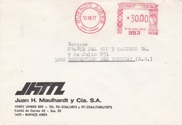 """""""JUAN H MAULHARDT"""" COMMERCIAL COVER, CIRCULATED BUENOS AIRES TO CONCEPCION DEL URUGUAY,  ARGENTINA. YEAR 1977 -LILHU - Storia Postale"""