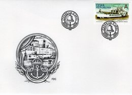 Czech Republic - 2018 - Historical Vehicles - Paddle Steamer Vltava - FDC (first Day Cover) - Neufs