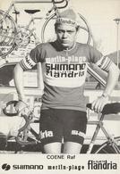 CARTE CYCLISME RAF COENE TEAM MERLINN PLAGE-FLANDRIA 1974 - Radsport