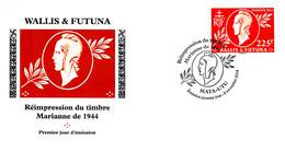 FDC Wallis Et Futuna De 2014 - Réimpression Du Timbre Marianne De 1944. - FDC