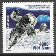 VIETNAM, 2019, MNH, SPACE, MOON LANDING, 1v - Espacio