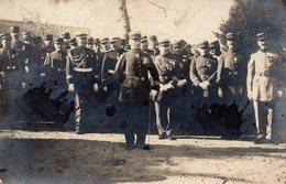 Cpa Carte Photo Soldat Grande Guerre,officiers. - Guerre, Militaire