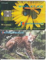 KYRGYZSTAN(chip) - Lynx, Www.kt.kg, Used - Kirghizistan