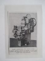 """Pompe à Combustible Pour Sous Marin  """"Submersible""""  -  Coupure De Presse De 1919 - Bateaux"""
