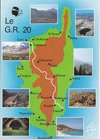 CPM Dpt 20 Contour, Le GR 20  ,La Corse Inoubliable   399991 Cp Non écrite - Landkaarten