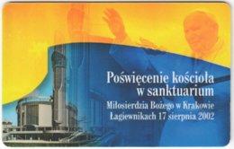 POLAND D-015 Prepaid Chip Telekom - Religion, Pope John Paul II. - Used - Pologne