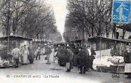 Chatou. Le Marché. (Très Animée) - Sonstige Gemeinden