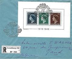 Luxembourg  -  FDC - 8.Janvier 1949 - Lettre Recommandé - Prix-Catl.600 € - FDC