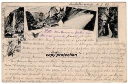 Lauterbrunnental, Staubbachfall, Trümmelbach Fälle, Alte Ansichtskarte 1897, Lauterbrunnen - BE Berne