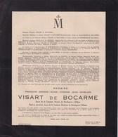 SAINTE-CROIX-LEZ-BRUGES François VISART De BOCARME époux Et Veuf De BORCHGRAVE D'ALTENA  Vollezeele 1898 - Accident 1944 - Décès