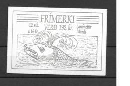 1987 MNH Iceland, Booklet Postfris - Cuadernillos/libretas