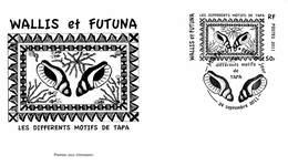 FDC Wallis Et Futuna De 2011 - Artisanat. Différents Motifs De Tapa De Wallis Et Futuna. Coquillages. - FDC