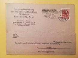 1929 INTERO CARTOLINA POSTALE POSTCARDS AUSTRIA OSTERREICH BOLLO CIFRE NUMERALS OBLITERE' MODLING BUCHERZETTEL - Ganzsachen