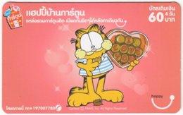 THAILAND E-011 Prepaid Happy - Comics, Garfield - Used - Thaïlande