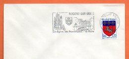 10 NOGENT SUR SEINE    SON EGLISE  LA PECHE  1968 Lettre Entière N° FG 94 - Marcophilie (Lettres)