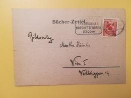 1929 INTERO CARTOLINA POSTALE POSTCARDS AUSTRIA OSTERREICH BOLLO CIFRE NUMERALS OBLITERE' INSBRUCK BUCHERZETTEL - Interi Postali