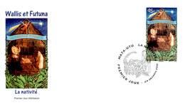 FDC Wallis Et Futuna De 2010 - Noël. Crèche Vivante. - FDC