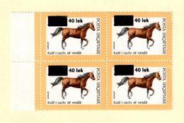 Albania 2006. Fauna: Horses. Overprint/Surcharged. Block Of 4. Mich 3102 MNH - Albania