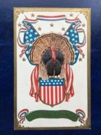 "Embossed-Gaufrée --""Mister Turkey For President""--(831)-M.dindon Pour Président - Thanksgiving"