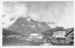 CARTE PHOTO COL DU LAUTARET HOTEL DES GLACIERS (années 30) - Altri Comuni