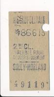 Ticket De Métro De Paris ( Métropolitain ) 2me Classe  ( Station ) SULLY MORLAND - Métro