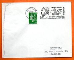 32 SEISSAN  EDOUARD LARTET  ( Tachée )  1971 Lettre Entière N° FG 106 - Mechanical Postmarks (Advertisement)