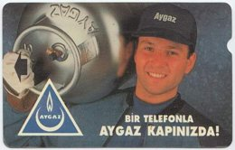 TURKEY A-108 Magnetic Telekom - Advertising, Energy, Gas (60 Units) - Used - Turquie