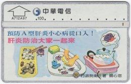 TAIWAN A-834 Chip Chunghwa - Cartoon - 771D - Used - Taiwan (Formosa)