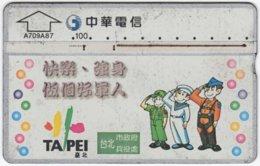 TAIWAN A-840 Chip Chunghwa - Cartoon - 745B - Used - Taiwan (Formosa)