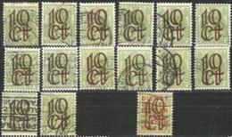 NEDERLAND NVPH 116 (14x), 117 (14x), 118 (5x), 119 (1x) + 132 (1x)   Cat Value  EUR 24,50 - 1891-1948 (Wilhelmine)