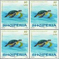 Albania Stamps 2014. Albanian Fauna (Caretta Caretta). Block Of 4 MNH. - Albania