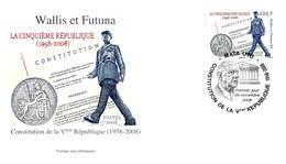 FDC Wallis Et Futuna De 2008 - 50 Ans De La Vème République. - FDC