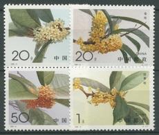 China 1995 Pflanzen Blüten Der Duftblüte 2600/03 Postfrisch - 1949 - ... Volksrepublik