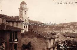 CARTE PHOTO VILLEFRANCHE SUR MER EGLISE RADE - Villefranche-sur-Mer