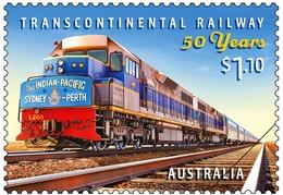 Australia 2020 1 V Gummed MNH Transcontinental Railway Locomotive Train - Trains