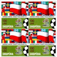 Albania 2012. European Football Championship Poland - Ukraine. Block Of 4 MNH - Albania
